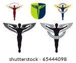 illustrated caduceus emblem for ... | Shutterstock .eps vector #65444098