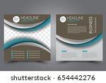square flyer template. brochure ... | Shutterstock .eps vector #654442276