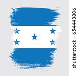 flag of honduras  brush stroke... | Shutterstock .eps vector #654443806