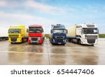 freight logistic park with... | Shutterstock . vector #654447406