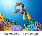 vector illustration of cartoon... | Shutterstock .eps vector #654459088