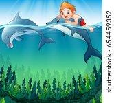 vector illustration of cartoon... | Shutterstock .eps vector #654459352