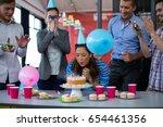 Businesspeople Celebrating...