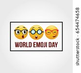 world emoji day vector... | Shutterstock .eps vector #654474658