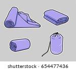 cartoon towel  blanket or... | Shutterstock .eps vector #654477436
