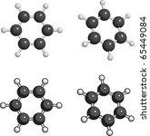 benzene molecule | Shutterstock .eps vector #65449084