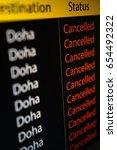 flight board display flight to... | Shutterstock . vector #654492322