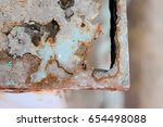 abstract black and white rusty...   Shutterstock . vector #654498088
