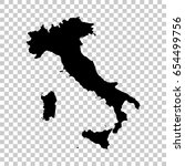 italy map isolated on... | Shutterstock .eps vector #654499756