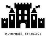fantasy castle black icon vector | Shutterstock .eps vector #654501976