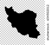 iran map isolated on... | Shutterstock .eps vector #654502012