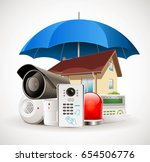 home security system   access... | Shutterstock .eps vector #654506776