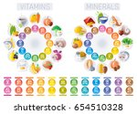 mineral vitamin supplement... | Shutterstock .eps vector #654510328