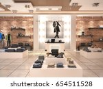 modern men's fashion store in... | Shutterstock . vector #654511528