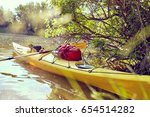 colorful kayaks on the tropical ...   Shutterstock . vector #654514282
