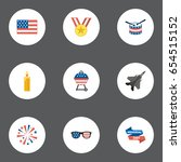 flat barbecue  american banner  ... | Shutterstock .eps vector #654515152