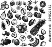 hand drawn sketch style set of... | Shutterstock . vector #654523852