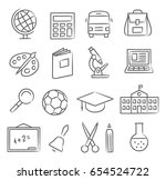 school and education icons | Shutterstock .eps vector #654524722