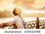 portrait of a happy attractive... | Shutterstock . vector #654532498