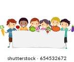 illustration of stickman kids... | Shutterstock .eps vector #654532672