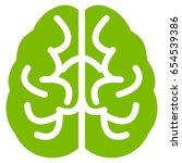 eco green brain toolbar icon.... | Shutterstock .eps vector #654539386