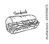 hand drawn illustration of... | Shutterstock .eps vector #654550672