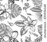 decorative seamless pattern... | Shutterstock .eps vector #654556168
