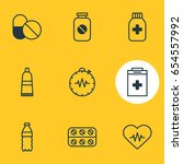 vector illustration of 9 health ... | Shutterstock .eps vector #654557992