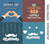 father's day greeting card.... | Shutterstock .eps vector #654567346