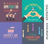father's day greeting card.... | Shutterstock .eps vector #654567442