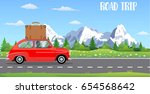web banner on the theme of road ... | Shutterstock . vector #654568642