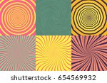 set of different psychedelic... | Shutterstock .eps vector #654569932