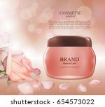 cosmetic ads poster... | Shutterstock .eps vector #654573022