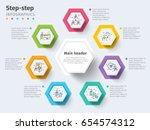 business 7 step process chart...   Shutterstock .eps vector #654574312