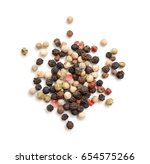 red and black peppercorns ... | Shutterstock . vector #654575266