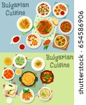 bulgarian cuisine healthy food... | Shutterstock .eps vector #654586906