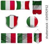 set of the national flag of... | Shutterstock .eps vector #654592912