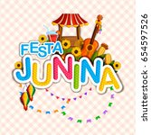 vector illustration of festa... | Shutterstock .eps vector #654597526
