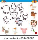 cartoon illustration of... | Shutterstock . vector #654600586