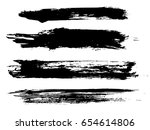 set of grunge brush strokes | Shutterstock .eps vector #654614806