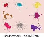 vector paint splatters.colorful ... | Shutterstock .eps vector #654616282