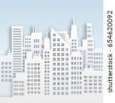 highrise skyscraper buildings... | Shutterstock . vector #654620092