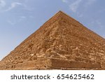 pyramid of khafre in giza... | Shutterstock . vector #654625462