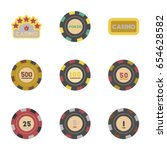 assembly flat icons casino...   Shutterstock .eps vector #654628582