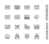 code  programming icon set in... | Shutterstock .eps vector #654638032