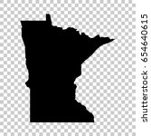 minnesota map isolated on... | Shutterstock .eps vector #654640615