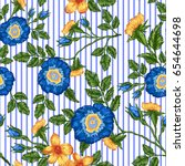 Seamless Pattern Of Floral...