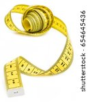 yellow measuring tape | Shutterstock . vector #654645436