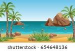Palm Beach Landscape For Scene...