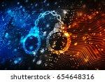 security concept  pixelated...   Shutterstock . vector #654648316